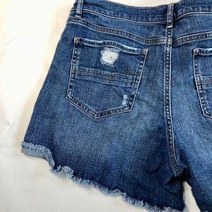 New York & Company Shorts - NY & Co Soho Cutoff Distressed Jeans Shorts